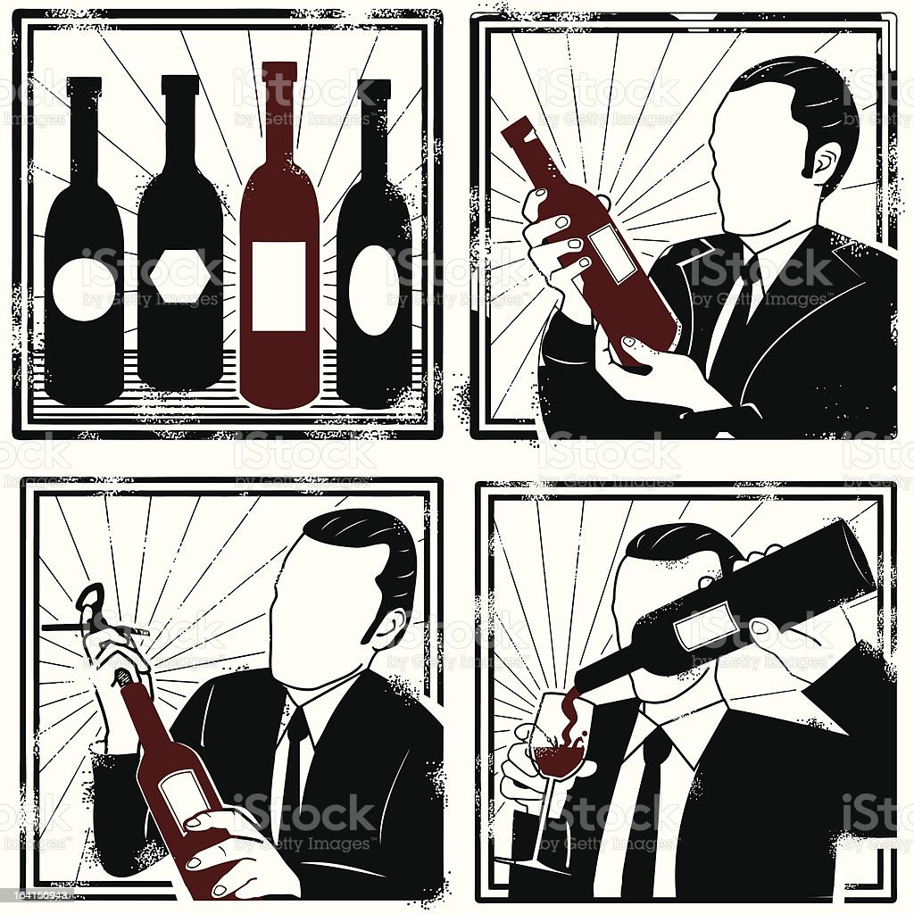Perhaps some wine this evening vector art illustration