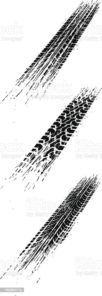 perspective skid marks royalty-free stock vector art