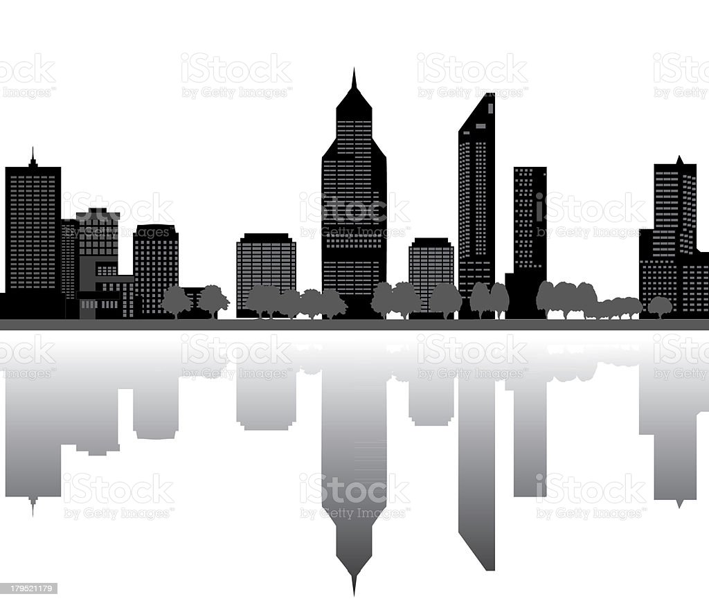 perth skyline royalty-free stock vector art