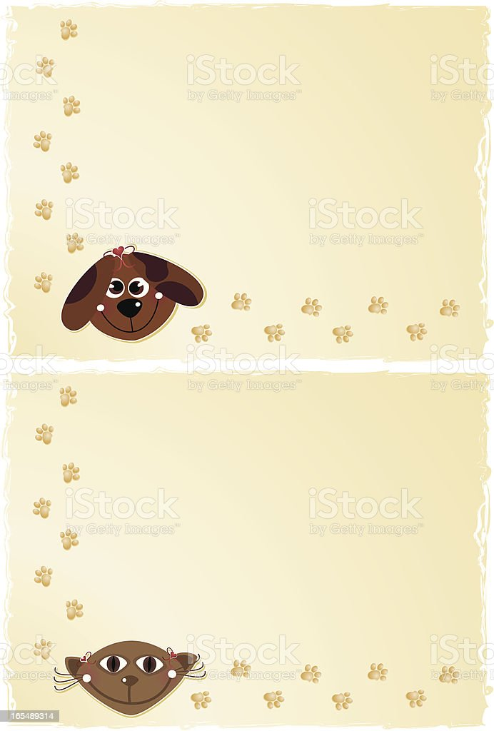 Pet Backgrounds royalty-free stock vector art