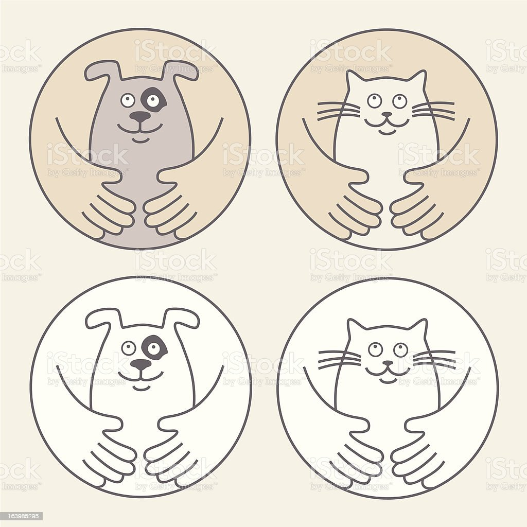Pet Care vector art illustration