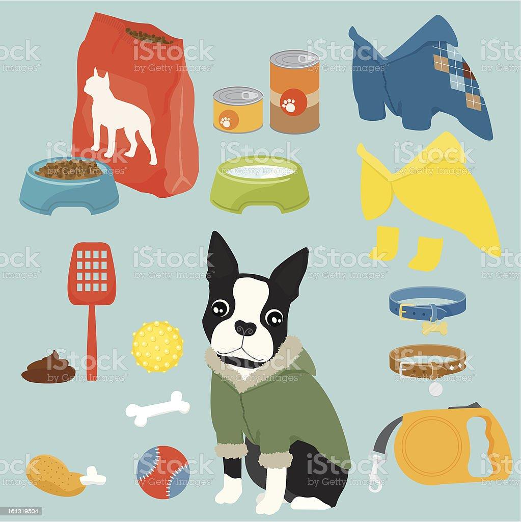 Pet equipment / boy vector art illustration