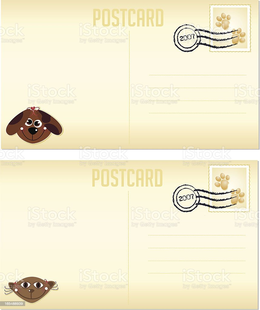 Pet Postcards royalty-free stock vector art