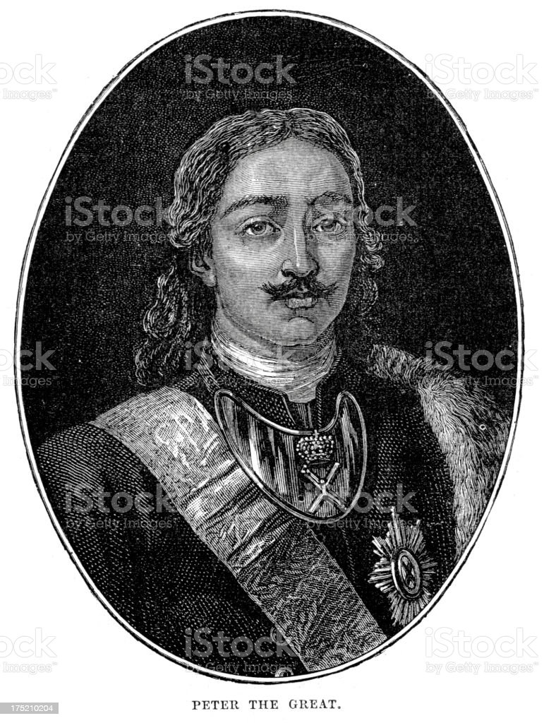 Peter the Great royalty-free stock vector art