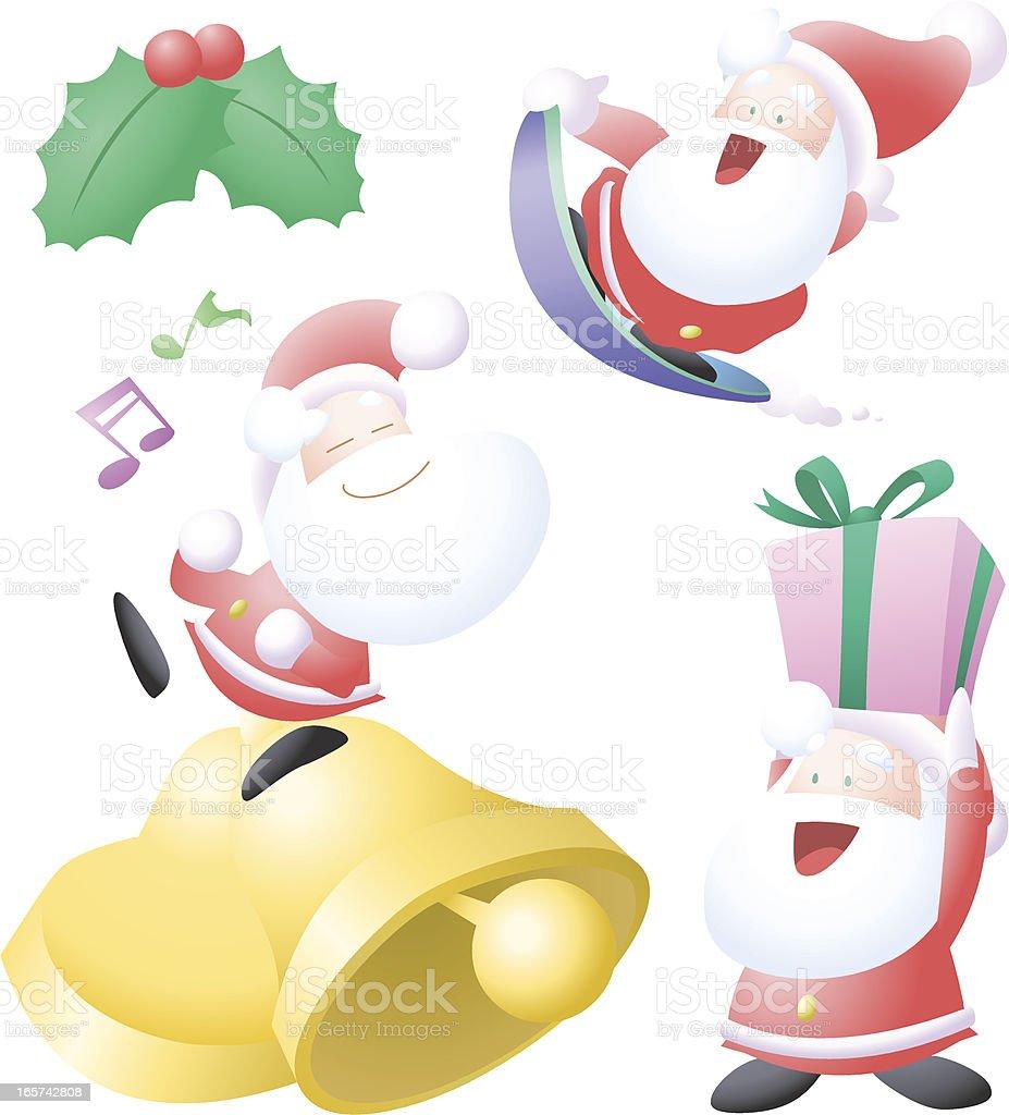 Petit Santa actions royalty-free stock vector art