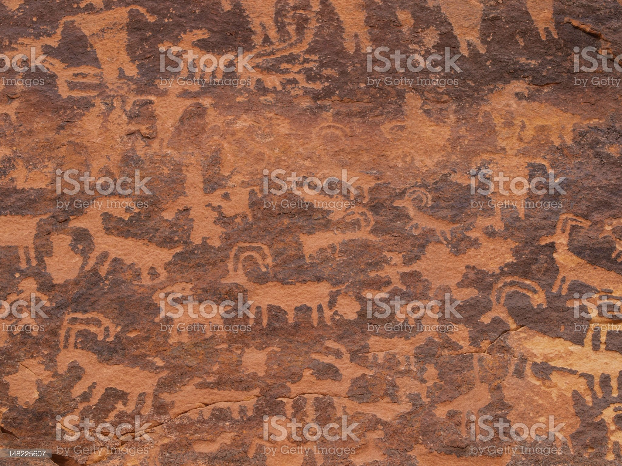 Petroglyphs of Northern Arizona royalty-free stock vector art