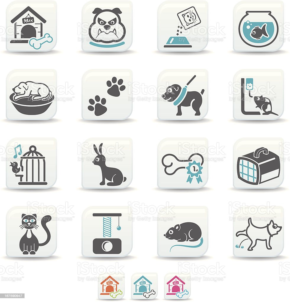 pets icons | simicoso collection vector art illustration