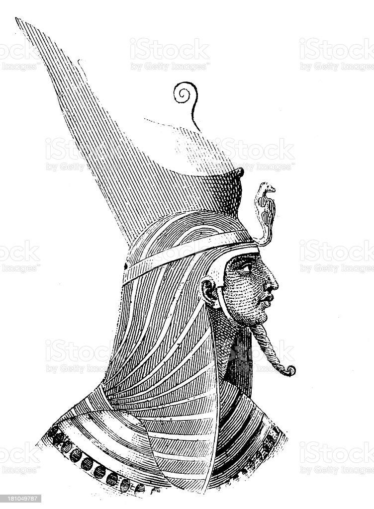 Pharaoh head, ancient Egypt royalty-free stock vector art