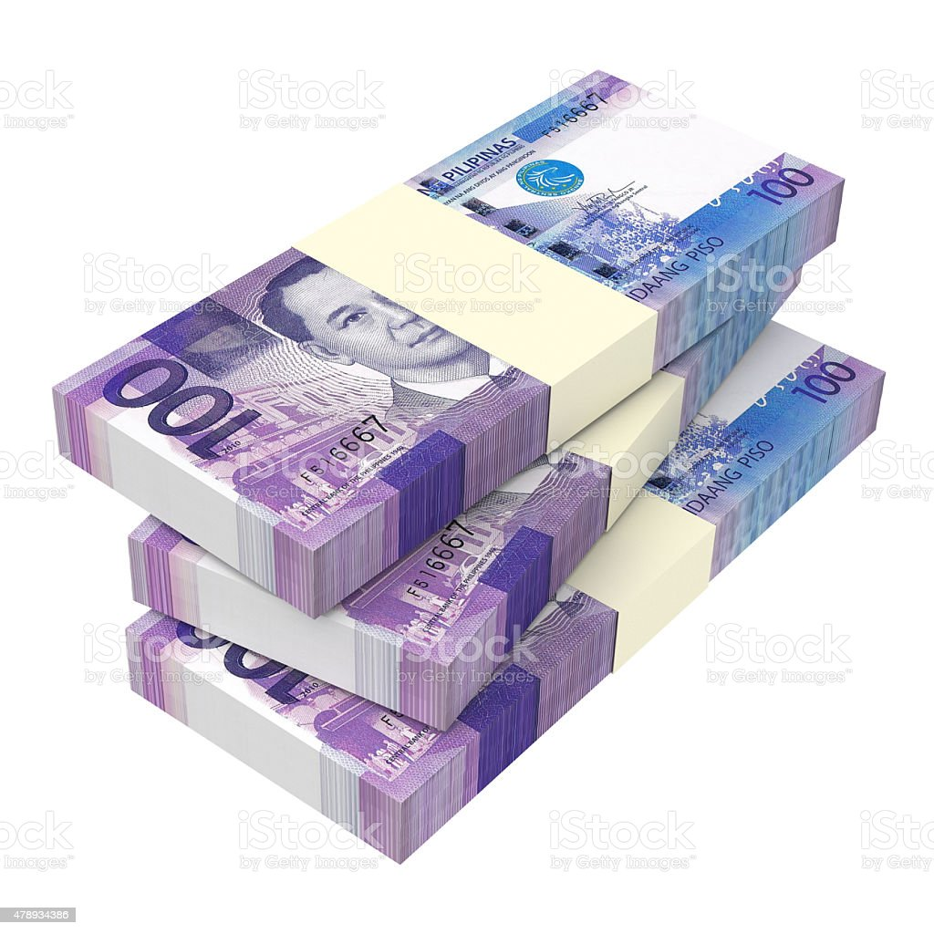 Philippines money isolated on white background. vector art illustration