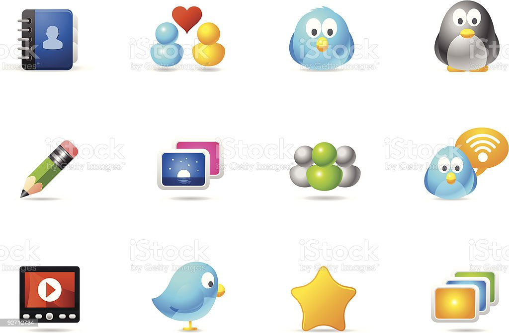 Philos icons - set 10 | Social Media royalty-free stock vector art