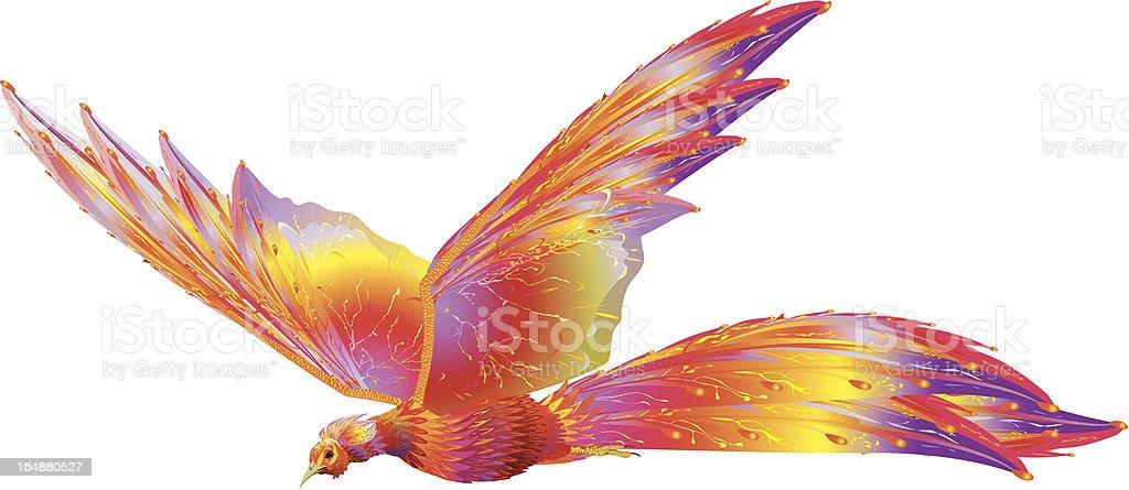 Phoenix in flight royalty-free stock vector art