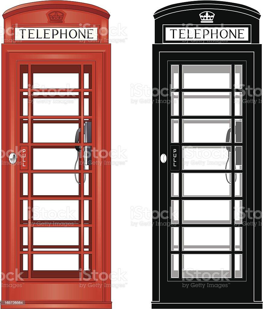 Phone box royalty-free stock vector art
