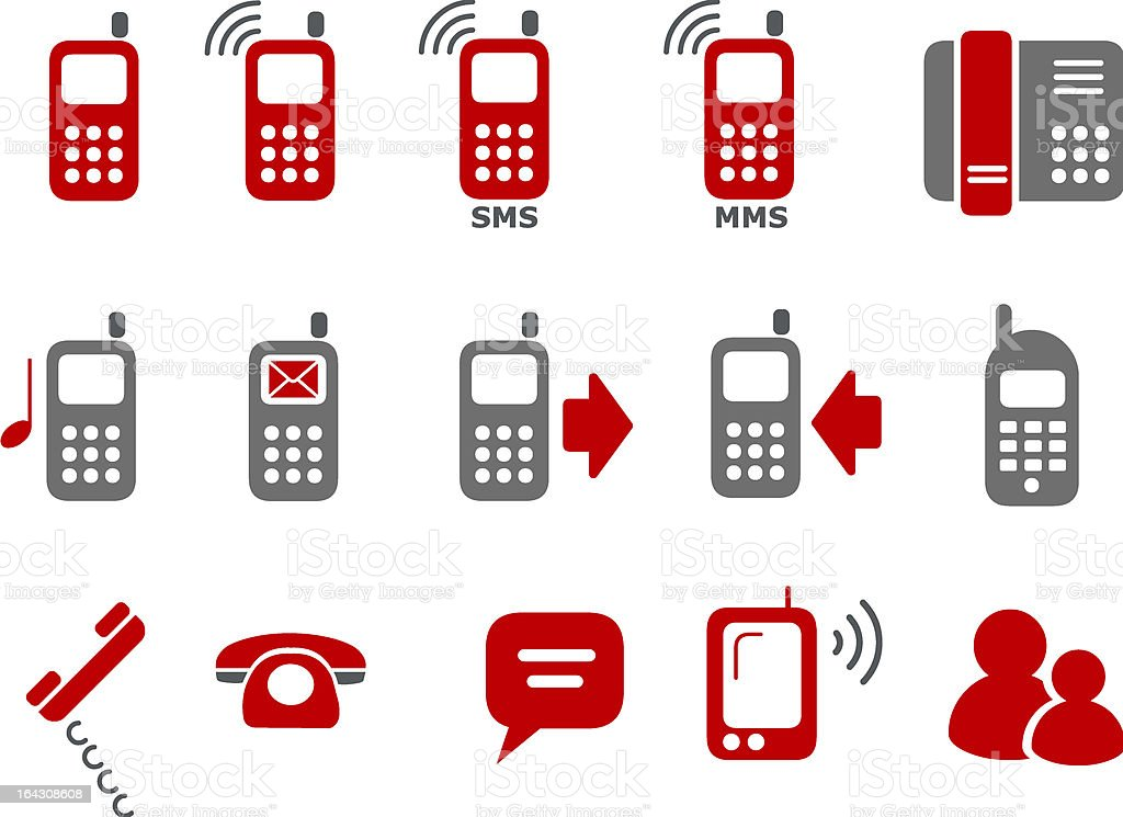 Phone icon set royalty-free stock vector art