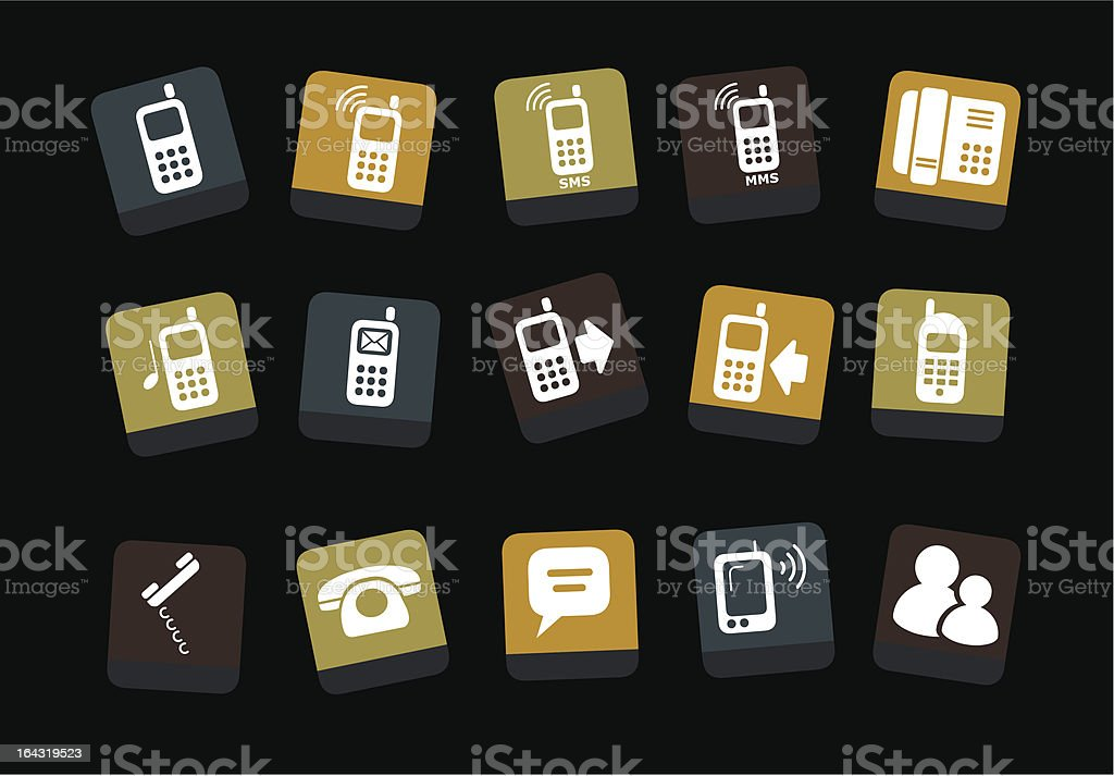 Phone icon set royalty-free stock vector art