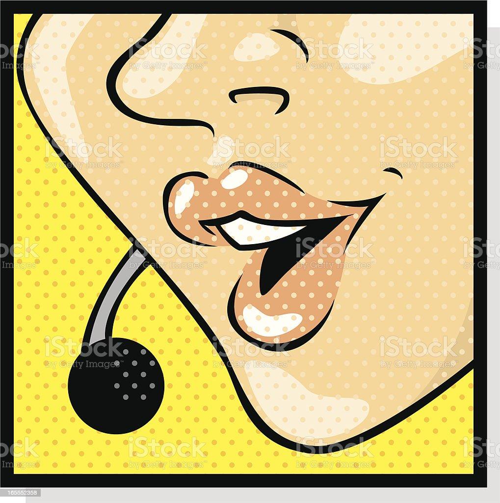 phone operator royalty-free stock vector art