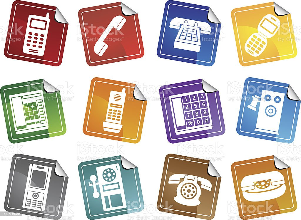Phone Stickers royalty-free stock vector art