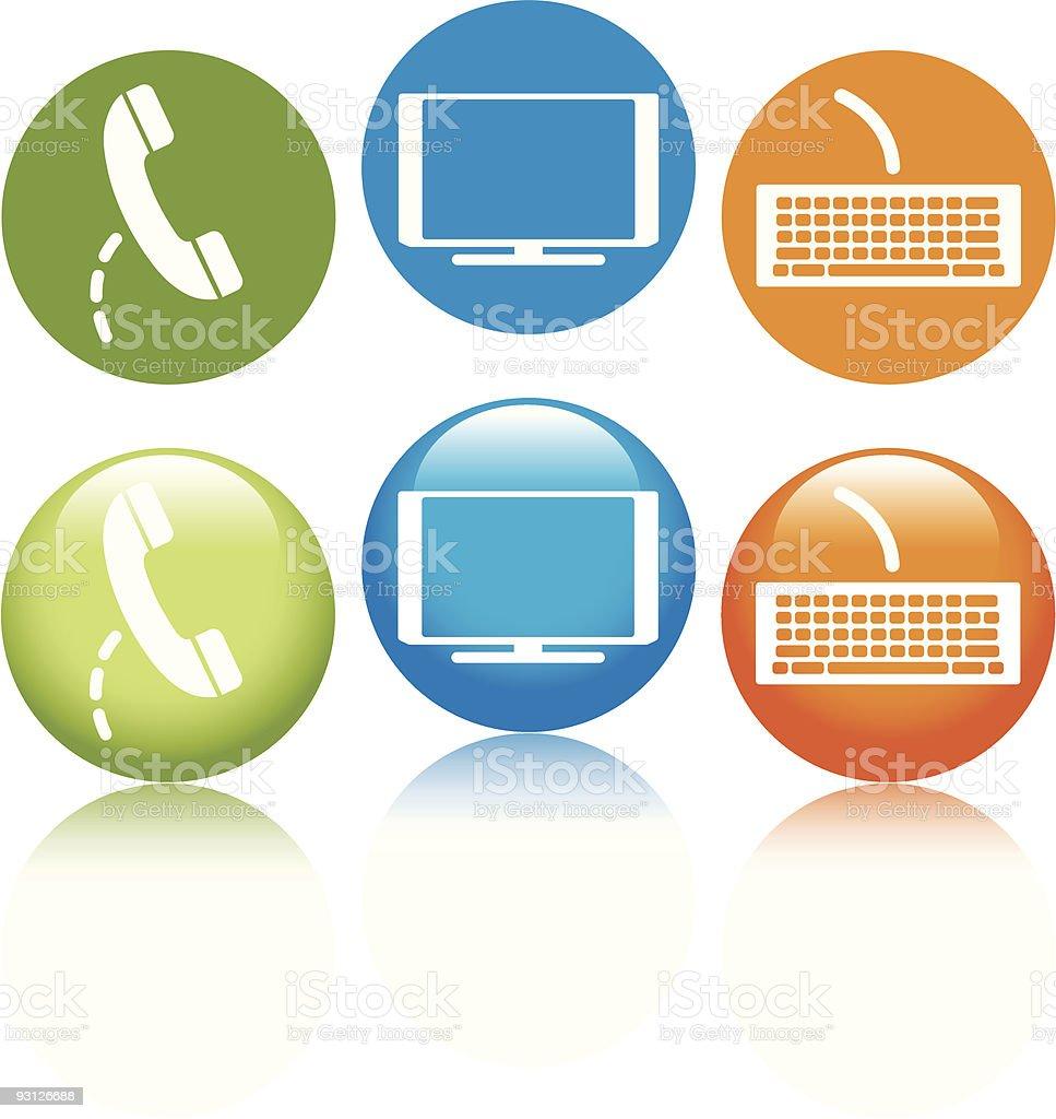 Phone.TV.Internet royalty-free stock vector art