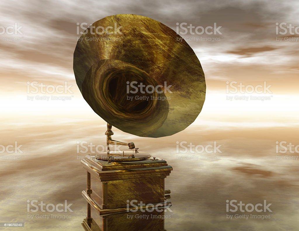 phonograph vector art illustration