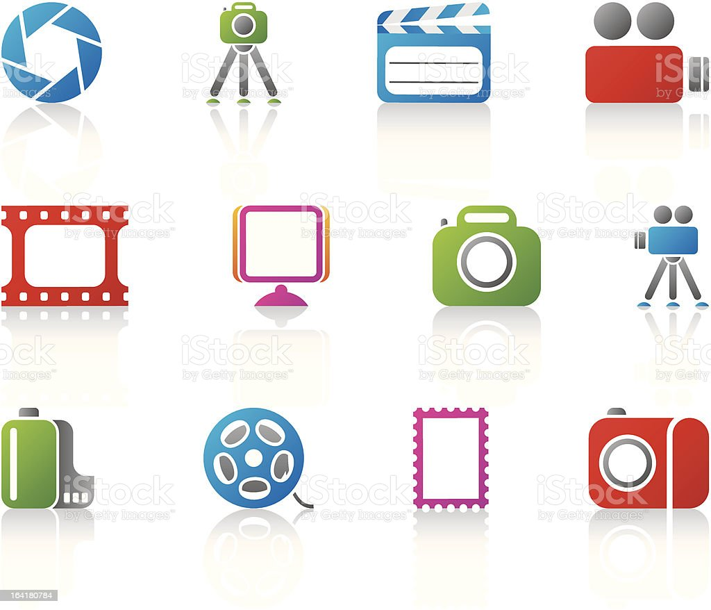 photo and video icons royalty-free stock vector art