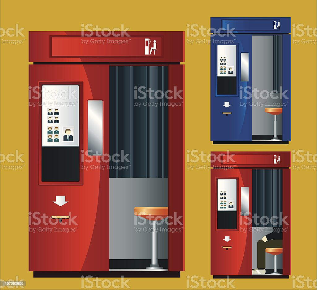 Photo Booth Machine vector art illustration