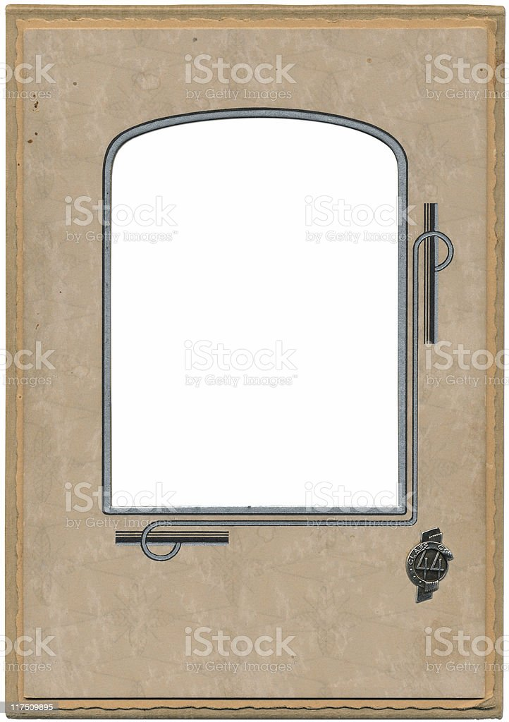 Photo Frame from the Forties vector art illustration