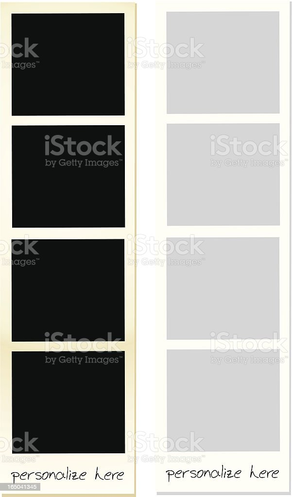 Photo Strip vector art illustration