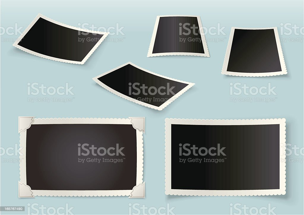 3D Photographic print set royalty-free stock vector art