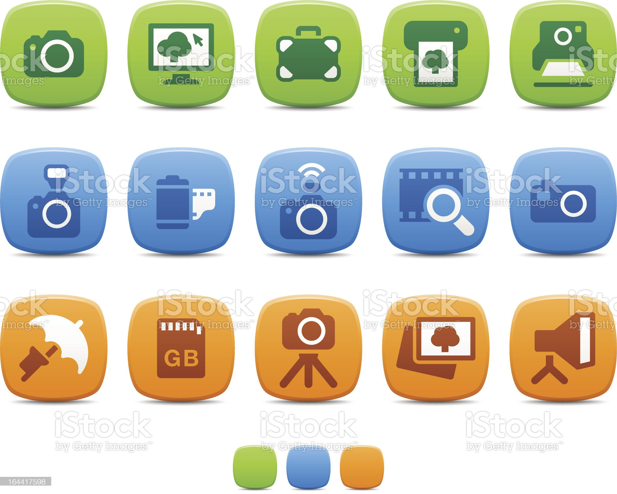 Photography icons royalty-free stock vector art
