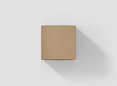 Photorealistic high quality Square Krfat Package Box Mockup