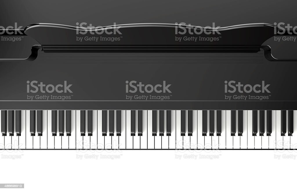 Piano vector art illustration