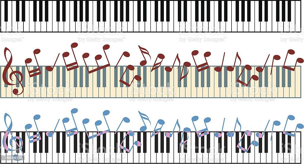 Piano keyboard royalty-free stock vector art