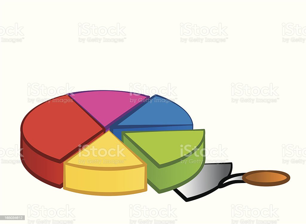 piece of the pie chart royalty-free stock vector art