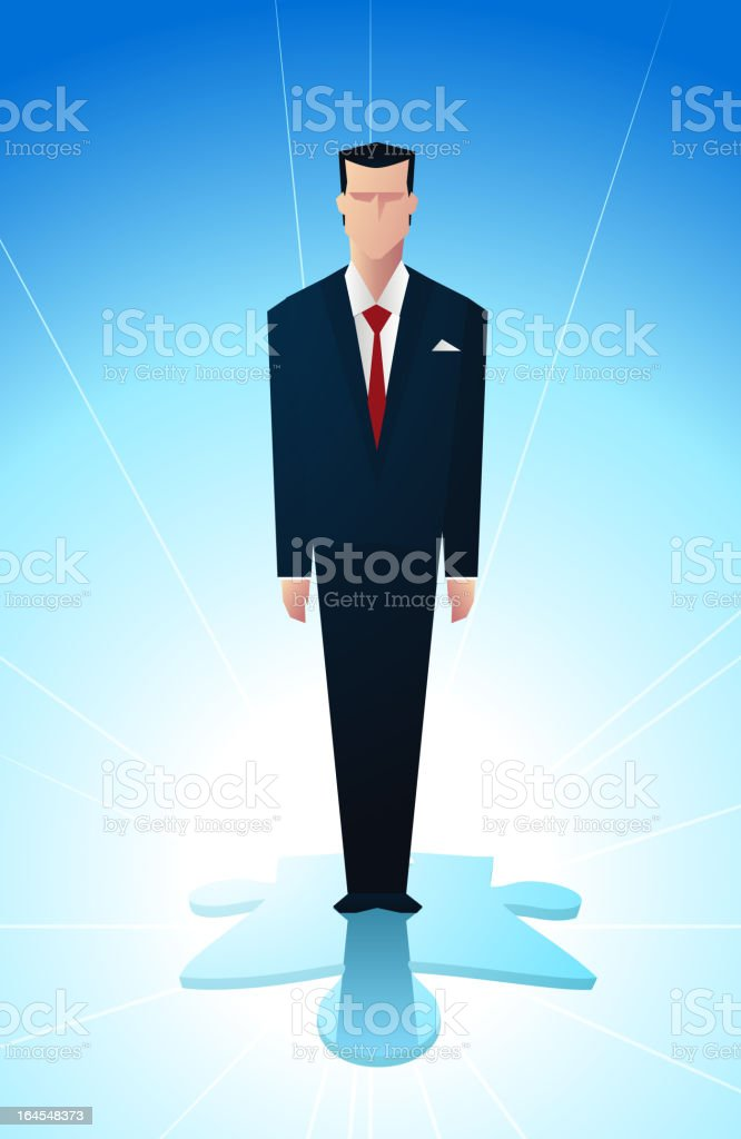 Piece of the puzzle royalty-free stock vector art