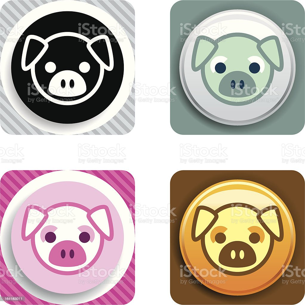 Pig Icon royalty-free stock vector art