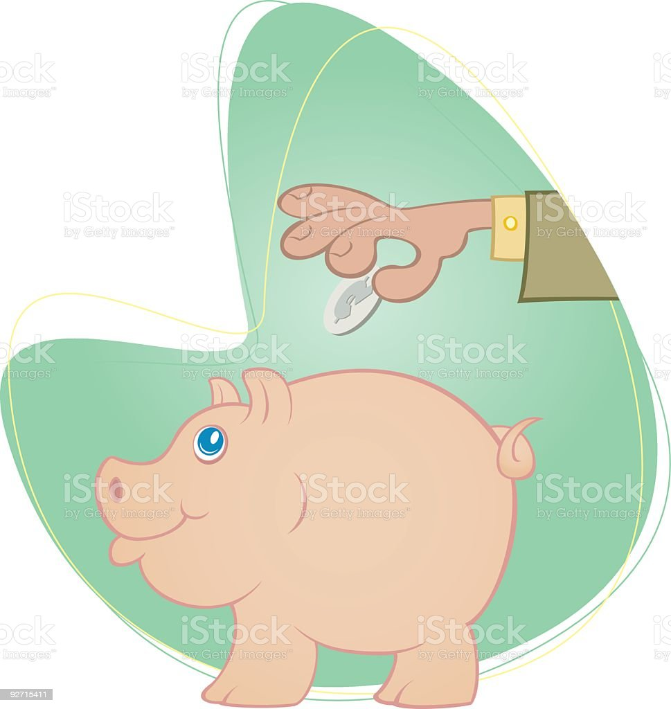 Piggy Bank royalty-free stock vector art