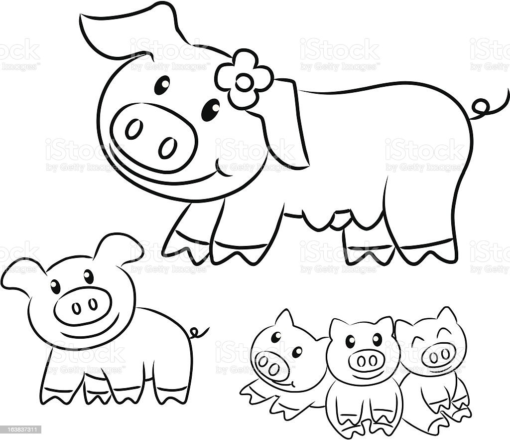 pigs royalty-free stock vector art