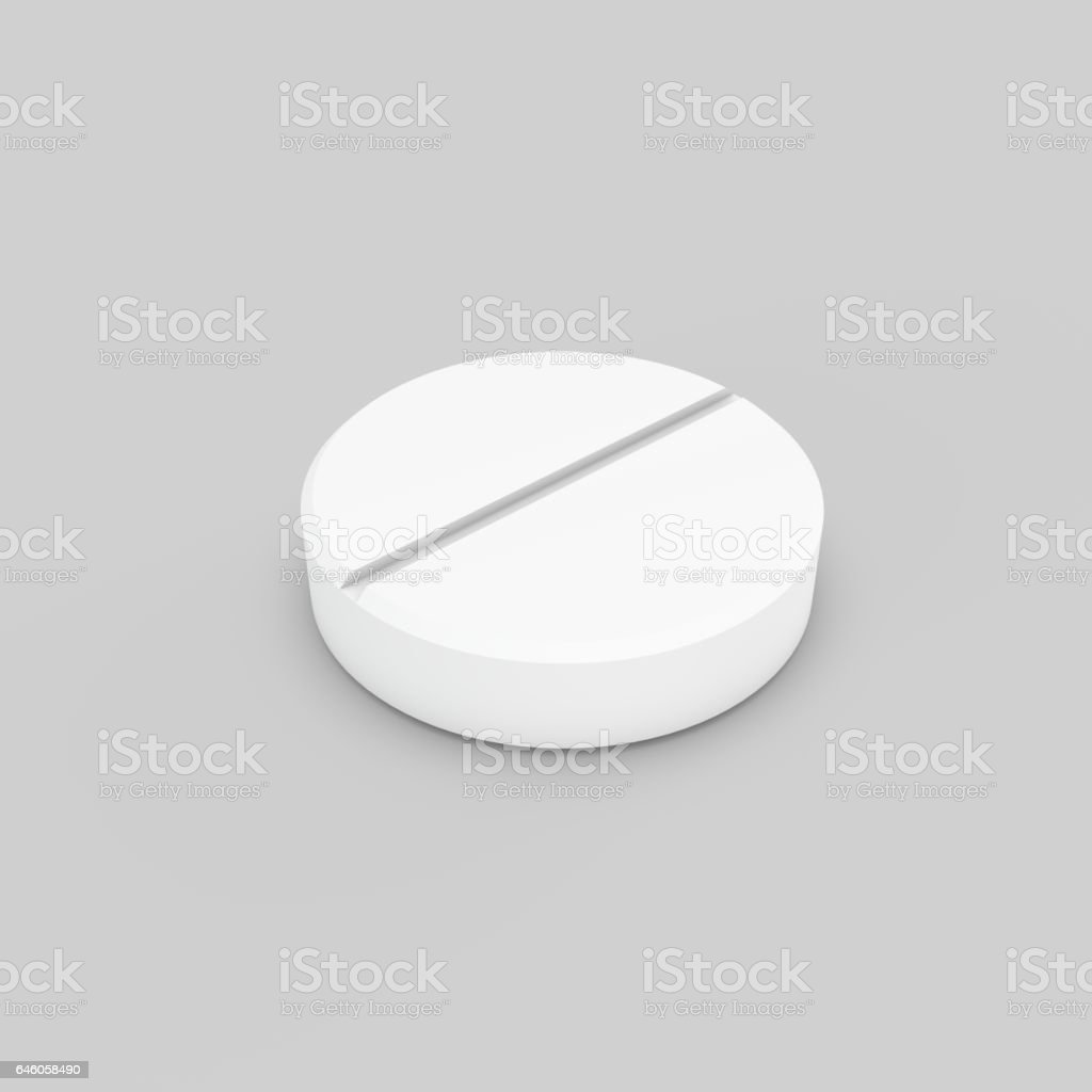 Pill. Isolated on grey background. 3D rendering illustration. vector art illustration