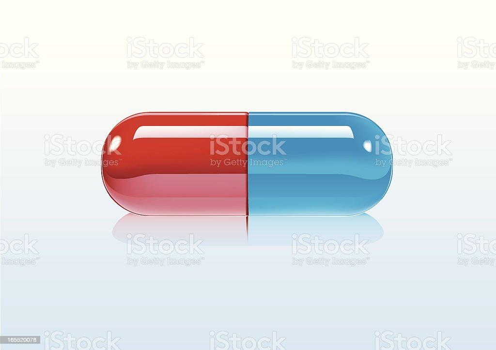 Pille Rot-Blau royalty-free stock vector art
