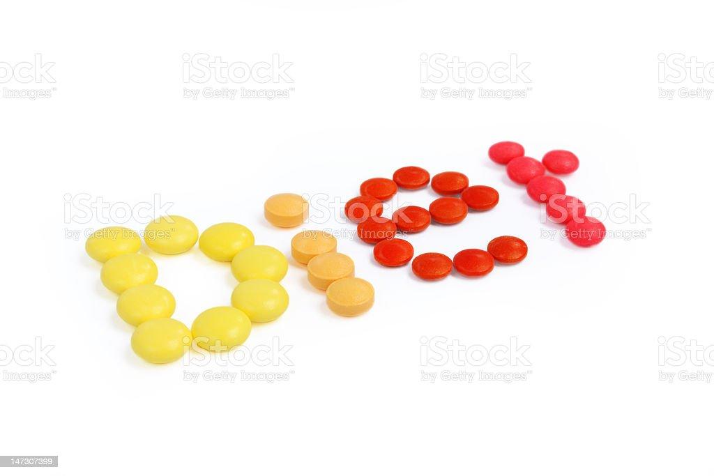 Pills diet royalty-free stock vector art