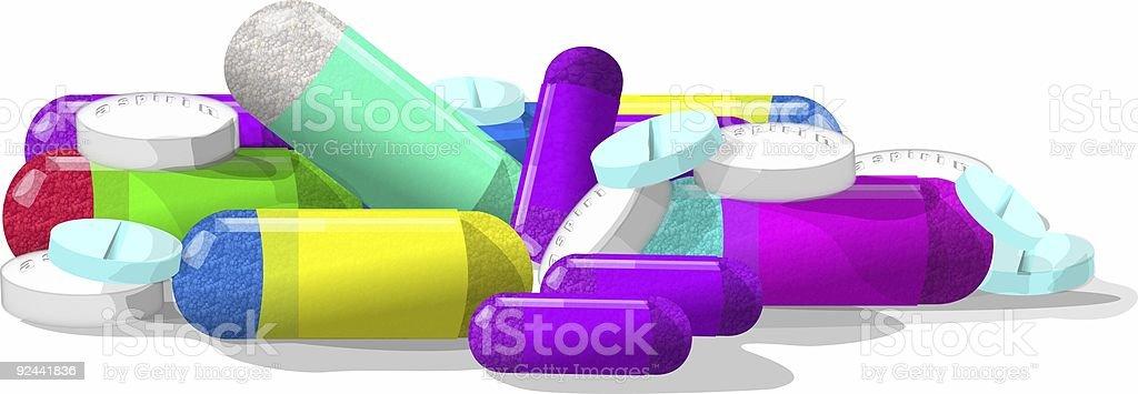 Pills, pills & more pills royalty-free stock vector art