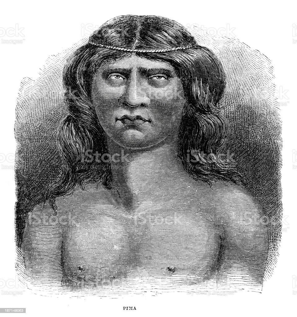 Pima Native American royalty-free stock vector art