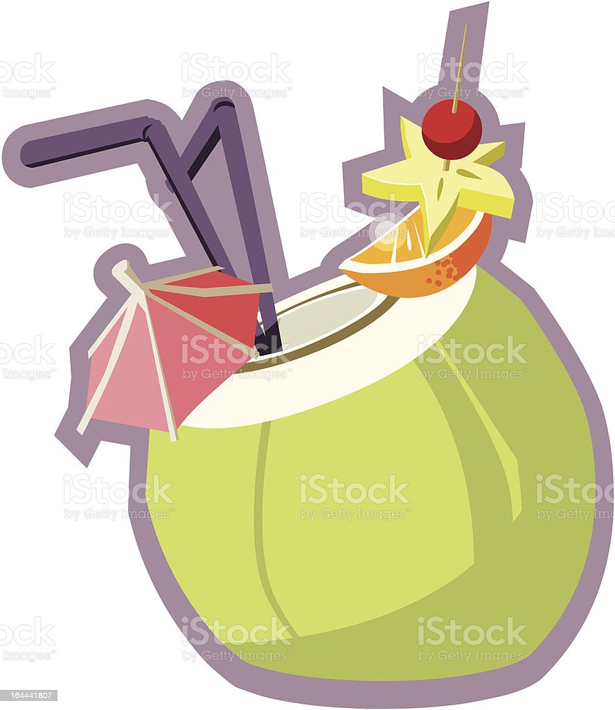 Pina Colada royalty-free stock vector art