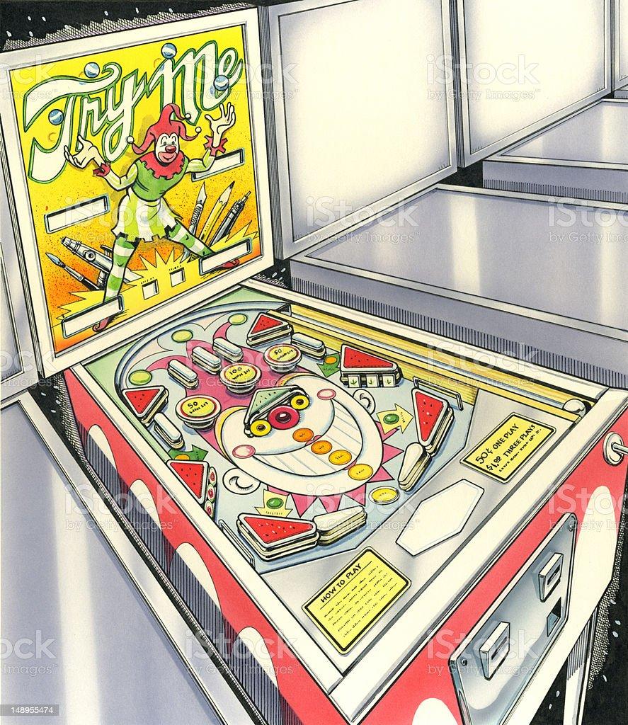 Pinball Machine Game vector art illustration