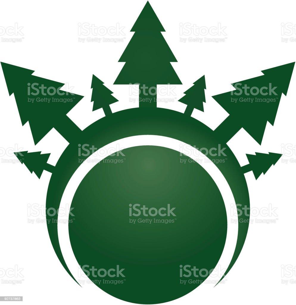 Pine tree design royalty-free stock vector art