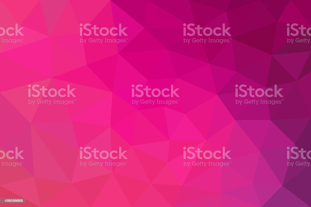 pink and purple abstract background of triangles low poly vector art illustration