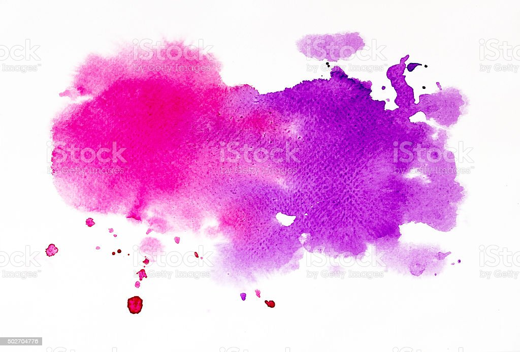 pink and purple watercolor texture background stock photo