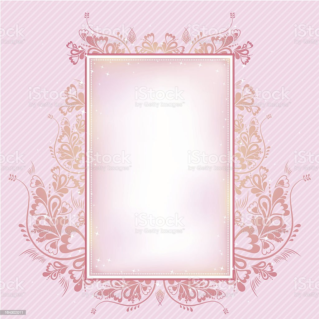 pink  background with  decorative ornament royalty-free stock vector art