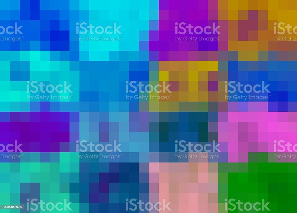 pink blue purple green and brown pixel stock photo
