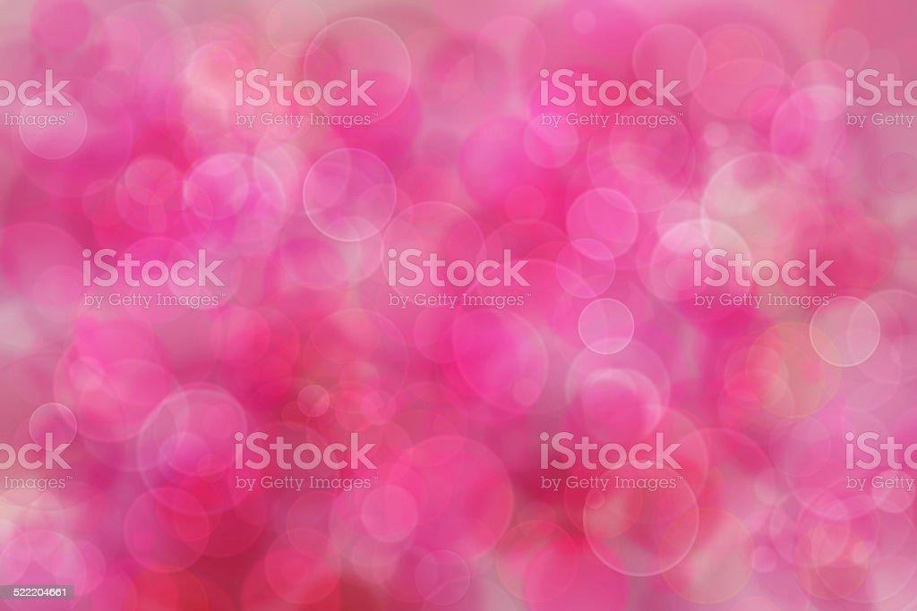 Pink bokeh background. vector art illustration