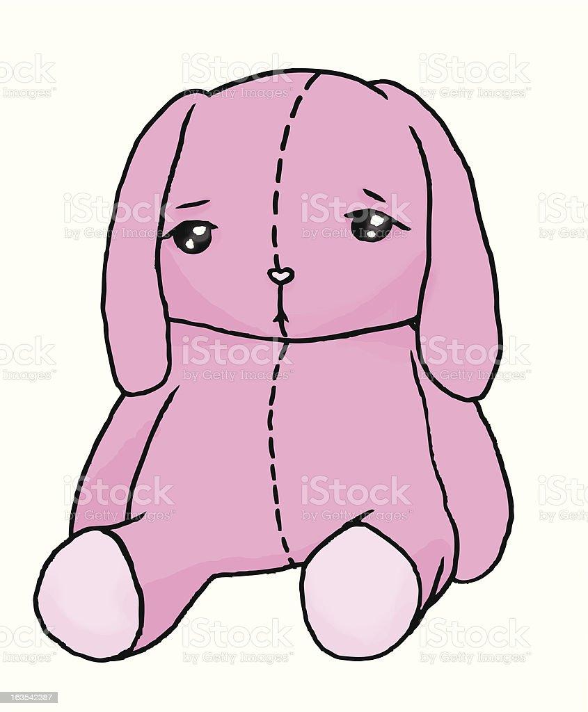 Pink bunny royalty-free stock vector art